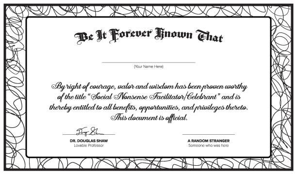 Social Nonsense Certificate